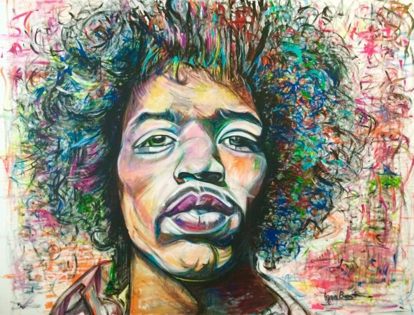 Jimi Hendrix por allllicia